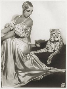 American-born French entertainer Josephine Baker (1906-1975). The first African-American woman to star in a major motion picture, she quickly became a world-famous icon. As an outspoken civil rights activist, she refused to perform at any U.S. club that wasn't integrated, breaking the color division at many establishments. She also worked in the French Resistance during World War II, carrying secret messages within music notes.