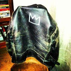 Glenn O'Brien's custom Basquiat jacket