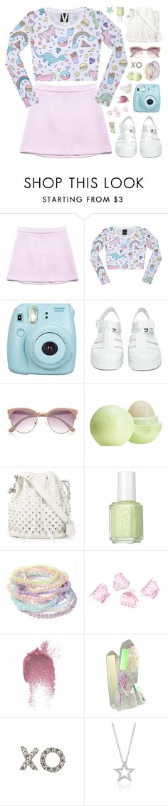 """Borderline- Madonna"" by charcharr ❤ liked on Polyvore featuring Forever 21, Fujifilm, JuJu, River Island, Eos, Alexander McQueen, Essie, H&M, Topshop and Bling Jewelry"