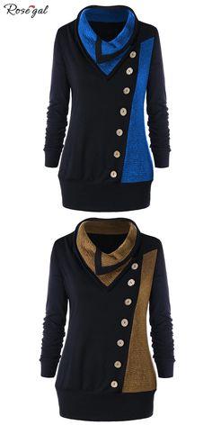 b48a3413ca2 55% remise pour ce sweat-shirt tunique  Rosegal  femme  grande taille
