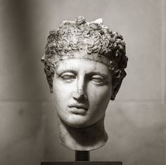 Marble head of an athlete,  Mid-Imperial, Antonine, ca. A.D. 138–192 | http://www.metmuseum.org/collection/the-collection-online/search/248579?rpp=20&pg=5&ft=Roman%2BSculpture&pos=95&imgNo=0&tabName=gallery-label