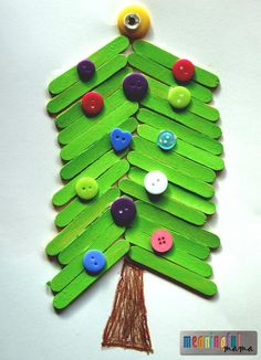 Popsicle Stick Christmas Tree Craft for Kids   Christmas will be here before we know it. Have kids make this popsicle stick craft to decorate during the holidays.