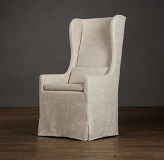 belgian slipcovered wingback dining armchair dining chairs and benches restoration hardware