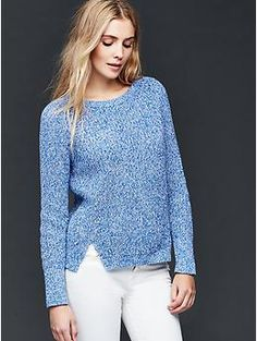 Cotton marled side slits sweater | Gap | Tengo :) | Pinterest ...