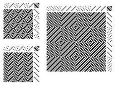 Granite2ways combining straight and satin threadings to make granite variations (Alice Schlein)