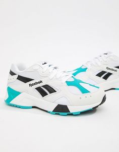 buy popular 70c6e a22e1 Reebok Teal And Black Aztrek Sneakers