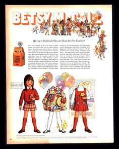 Vintage 1969 Betsy McCall Unicef Trick or Treat original advertisement print ad Paper Toys, Paper Crafts, Diy Paper, Paper Dolls Printable, Magazines For Kids, Vintage Paper Dolls, Print Ads, Retro, Doll Toys