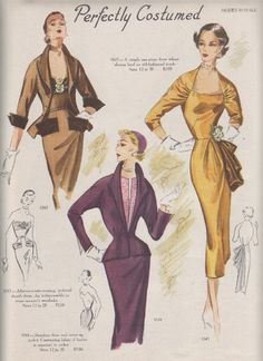For those of you who are sick and tired of vintage fashions, you are in luck as I have only one more week's worth of Mode. Vintage Dress Patterns, Clothing Patterns, Vintage Dresses, Vintage Outfits, Morning Inspiration, Mode Inspiration, Vintage Soul, Vintage Ladies, 1940s Fashion