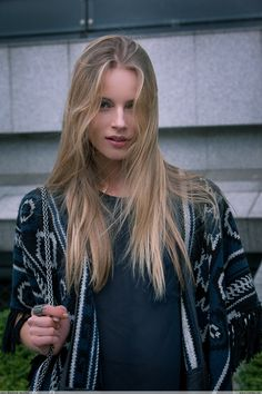 Ieva Laguna in dolan during Paris Fashion Week SS14