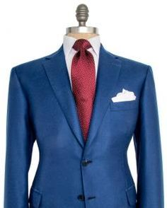 Image of Brioni Solid Blue Sportcoat
