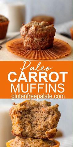Gluten Free Carrot Muffins, Gluten Free Carrot Cake, Healthy Carrot Cakes, Healthy Zuchinni Muffins, Paleo Banana Muffins, Carrots Healthy, Healthy Pumpkin, Paleo Muffin Recipes, Carrot Recipes