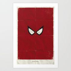 Minimalist Spider-Man Art Print by Marko Manev
