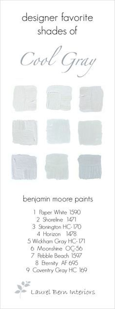 9 Fabulous Benjamin Moore Cool Gray Paint Colors - laurel home | cool gray colors are great in bathrooms