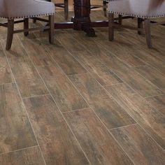 "Shaw Floors Celestial Plank 8 ""x Ceramic Field Tile Couleur: Marron – - Bathroom Flooring Ceramic Wood Tile Floor, Wood Look Tile Floor, Wood Tile Floors, Hardwood Floors, Plank Tile Flooring, Laminate Flooring, Vinyl Flooring, Floor Stain, Plywood Floors"