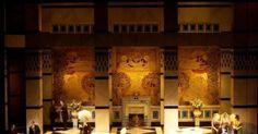 La Rondine. Metropol - La Rondine. Metropolitan Opera/San Francisco Opera/ Opera Monte Carlo. Scenic design by Ezio Frigerio. --- #Theaterkompass #Theater #Theatre #Schauspiel #Tanztheater #Ballett #Oper #Musiktheater #Bühnenbau #Bühnenbild #Scénographie #Bühne #Stage #Set