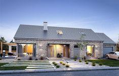 Modern Brick House, Modern Bungalow House, Rural House, House Roof, Facade House, Flat House Design, House Designs Ireland, Compact House, Small Modern Home