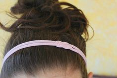 Dress up your messy bun with this quick DIY headband made from a strip of fabric from an old T-shirt.