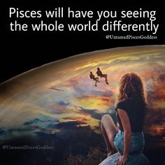 """UntamedPiscesGoddess on Instagram: """"#pisces will have you seeing the whole world differently. • • #piscesgoddess #TeamPisces #piscesnantion #piscesbaby"""" Aquarius Pisces Cusp, Capricorn Rising, Pisces Girl, Pisces Zodiac, Zodiac Signs, Virgo Moon Sign, Moon Signs, Water Signs, Old Soul"""