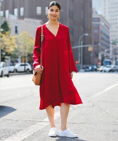 Best Street Style Outfit Photos New York Fashion Week | The coolest looks from the hot streets of NYFW. #refinery29 http://www.refinery29.com/2016/09/120553/nyfw-spring-2017-best-street-style-outfits