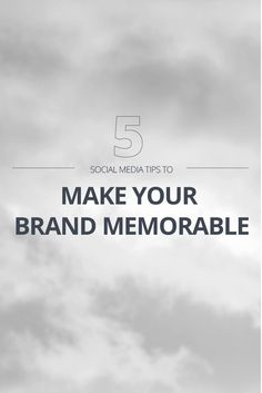 Social media can be a great tool to increase your online presence, but as more brands jump on the Internet bandwagon, marketing clutter can make it hard to compete. With competition on the rise, making your brand stand out on social media is more important than ever.  Read it now: http://blog.canva.com/five-social-media-tips-will-make-brand-memorable/