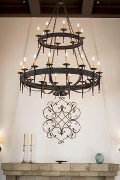 Wrought Iron Chandeliers, Rustic Chandelier, Dream House Interior, Country Interior, House With Porch, Round House, Rustic Elegance, Cool Pools, Beautiful Lights