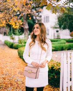 "Julia Engel (Gal Meets Glam) on Instagram: ""Fall in St. Helena on galmeetsglam.com today #littlewhitedress #napavalley #gmgtravels #dressember #ontheblog"""