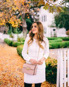 "Julia Engel (Gal Meets Glam) on Instagram: ""Fall in St. Helena on galmeetsglam.com today #littlewhitedress #napavalley #gmgtravels #dressember #ontheblog"""