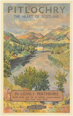 Pitlochry British Railways Poster McIntosh Patric