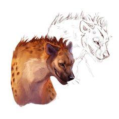 Hyena Study by CorvusHound on DeviantArt Animal Sketches, Animal Drawings, Art Sketches, Pretty Art, Cute Art, Wild Dogs, Pencil Art Drawings, Animal Design, Furry Art