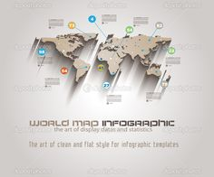 World Map Infographic Template - Stock Illustration: 41829165