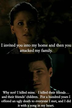 Buffy & Angel-Do you have any idea what it's like to have done the things i've done and to care.