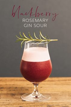 Flavours of autumn come together with rosemary and blackberry jam, combining beautifully with gin. Gin Recipes, Gin Cocktail Recipes, Alcohol Drink Recipes, Cocktail Drinks, Sour Cocktail, Fireball Recipes, Fancy Drinks, Bar Drinks, Yummy Drinks