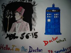 Drawing of the doctor that I did, @HannahJackfield