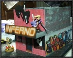 Striptease Pub Free Building Paper Model Download - http://www.papercraftsquare.com/striptease-pub-free-building-paper-model-download.html