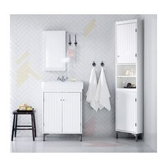 Ikea SilverÅn Hamnviken Sink Cabinet With 2 Doors White The Included Water Trap Is Easy To Connect Drain Washing Machine And Dryer Because