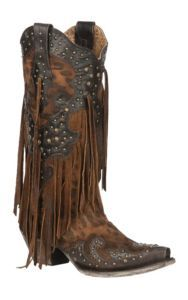 Corral Women's Leopard Print with Stud Overlay and Fringe Western Snip Toe Boots – Wedding Shoes Fringe Cowboy Boots, Cowboy Boots Women, Cute Cowgirl Boots, Cowgirl Tuff, Cowgirl Outfits, Wedding Boots, Wedding Dress, Sergio Rossi, Bride Shoes