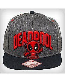 3D Emblem Deadpool Snapback Hat Deadpool Hat 254d0ec6dc5e