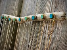 Excited to share this item from my #etsy shop: Aquamarine and see green agate driftwood necklace holder wall mounted hanger Necklace Hanger, Green Agate, Aquamarine Blue, Agate Beads, Beach Themes, Dandy, Driftwood, Turquoise Bracelet, Etsy Shop