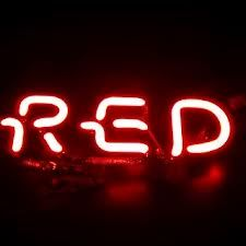 red neon signs -