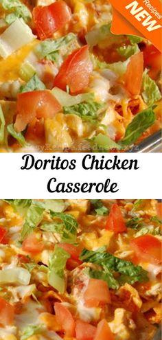 #Doritos #Chicken #Casserole Healthy Cooking, Cooking Recipes, Healthy Recipes, Easy Recipes, Chicken Casserole, Casserole Recipes, Chicken Salad Recipes, Chicken Salads, Doritos Recipes