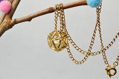 amazing beaded ball pendant necklace