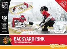 Chicago Blackhawks OYO Backyard Rink Set #ChicagoBlackhawks