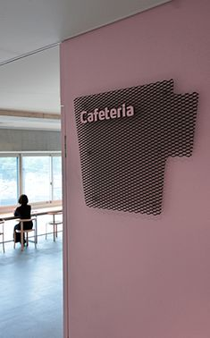 I like the metal material background Industrial Signage, Metal Signage, Signage Display, Signage Design, Environmental Graphic Design, Environmental Graphics, Hospital Signage, Office Wall Graphics, Architectural Signage