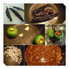 Haciendo la salsa de pasilla