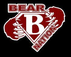 Super B Decal       GO BEARS     Bastrop Texas by OTWdecals