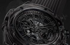 La Cote des Montres : La montre Hublot Big Bang Unico Sapphire All Black 10 ans - Noir intégral en totale transparence
