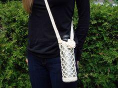Ravelry: Diamond Mesh Water Bottle Holder pattern by Jennifer Ozses