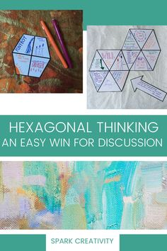 Loving hexagonal thinking with your high school English students? Maybe you're ready to add another layer of depth with hexagonal one-pagers. Get your students making visual and verbal connections about your reading through shaped one-pagers, then have them discuss and debate the connections between their one-pagers. #hexagonalthinking #onepagers First Day Icebreakers, Icebreaker Activities, Sensory Details, Teacher Awards, Cult Of Pedagogy, Reading Assessment, Argumentative Writing, We Are Teachers, Career Exploration