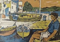 The best art exhibitions to see outside London 2017 – Museum Crush / John Minton, Lithograph illustration from Time Was Away, A Notebook in Corsica by Alan Ross History Of Illustration, Illustrations, Illustration Art, John Minton, Most Popular Artists, Royal College Of Art, The Life, Op Art, Figurative Art