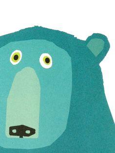 Illustration by Chris Haughton Illustration Mignonne, Children's Book Illustration, Chris Haughton, Art D'ours, Stoff Design, Bear Art, Art Graphique, Grafik Design, Art Lessons